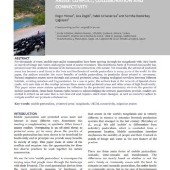 Mobile Pastoralism and Protected Areas: Conflict, Collaboration and Connectivity