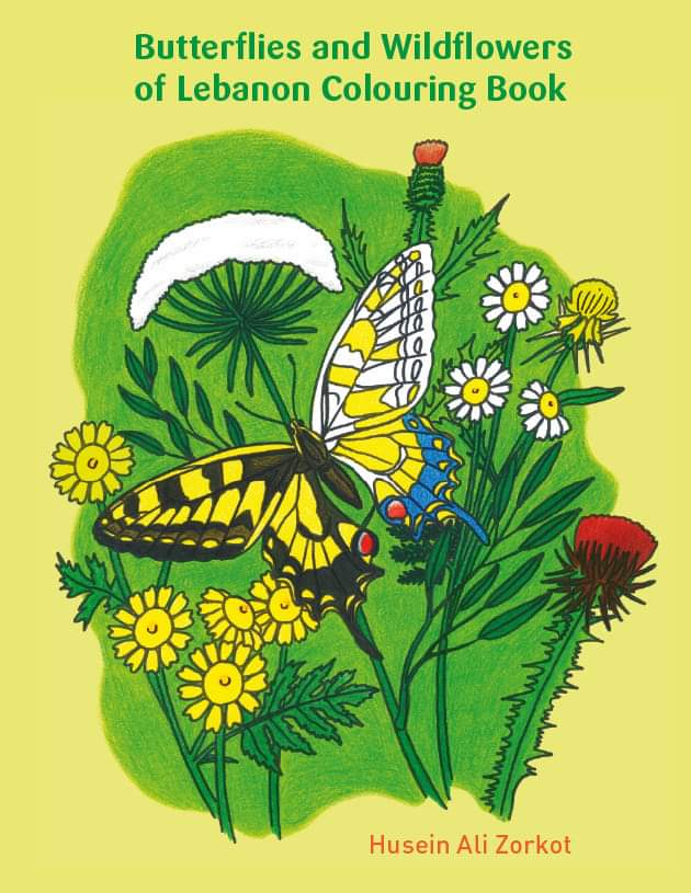Butterflies and Wildflowers of Lebanon Colouring Book